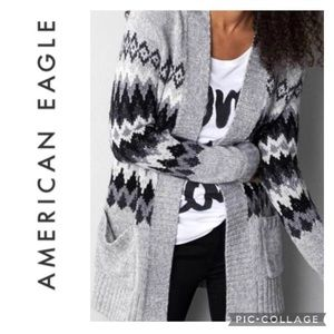 American Eagle Outfitters | Fair Isle Open Cardigan~L